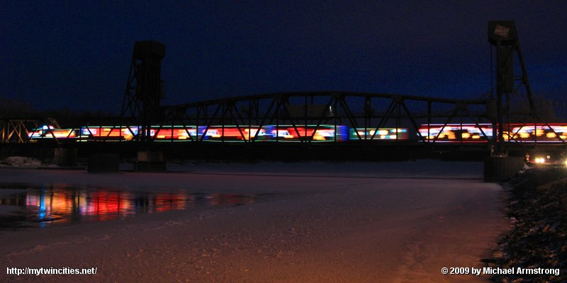 Holiday Train Departing Hastings. MN